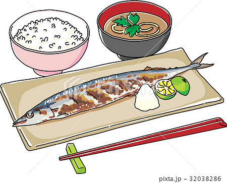 秋刀魚定食 32038286