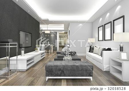 3d rendering luxury and modern living room  32038528