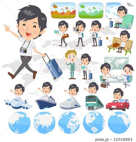 White short sleeved man travel 32038963
