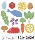 セット バリエーション 食べ物のイラスト 32042026