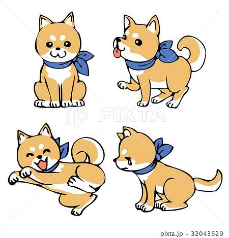 柴犬のイラスト素材 32043629 Pixta