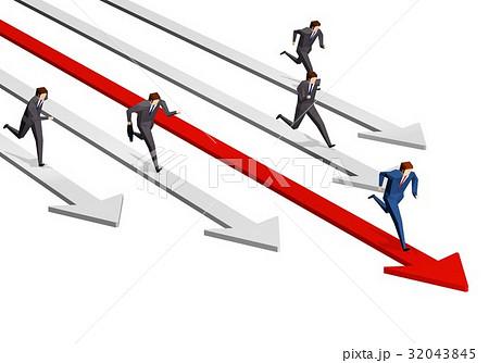 競争するビジネスマンたち 32043845