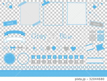 ブルー素材 32044680