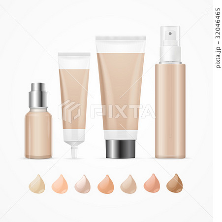 Realistic Empty Template Foundation Cream Package 32046465
