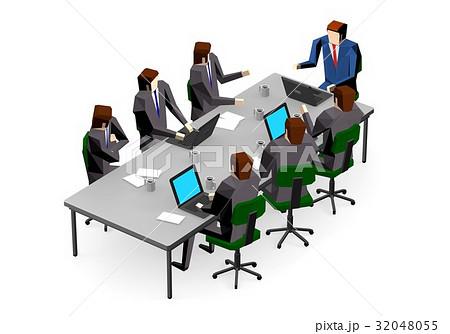 会議をするビジネスマン 32048055