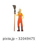 人 掃除夫 ヒップスターのイラスト 32049475