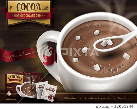 hot chocolate drink ad 32061344