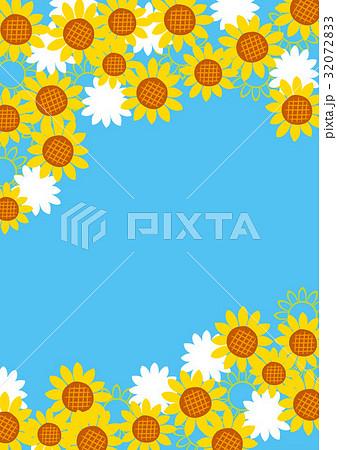 海 夏 可愛い 向日葵ポスター 32072833