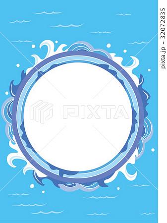 海 夏 可愛い 波のイラスト素材 32072835 Pixta