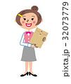 庶務 OL 書類のイラスト 32073779