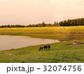 放牧 まきば 牧草地の写真 32074756
