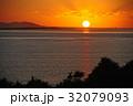 風景 沖縄 日の出の写真 32079093