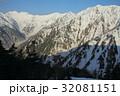 雪山 冬山 残雪の写真 32081151