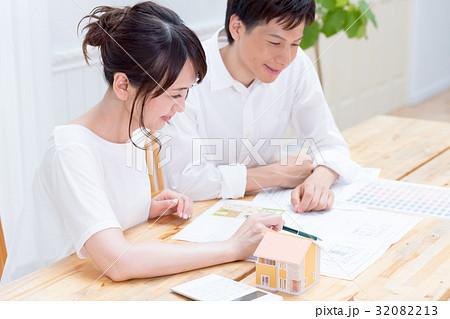 若い夫婦、マイホーム、リフォーム 32082213