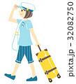 一人旅 夏 女性のイラスト 32082750