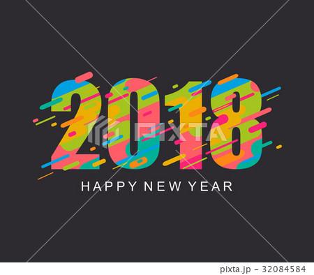 modern bright happy new year 2018 design card のイラスト素材