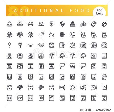 Additional Food Line Icons Set 32085402