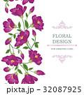 フローラル 背景 花のイラスト 32087925