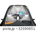 電気自動車 インテリア 自動運転のイラスト 32090651