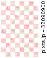 模様 市松模様 格子模様のイラスト 32090900