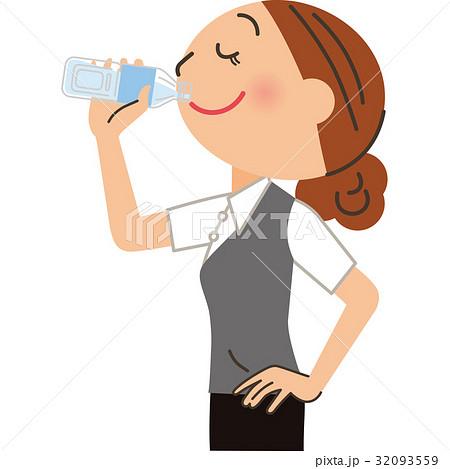 飲み物を飲む女性会社員 32093559