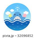 鯨 動物 海のイラスト 32096852