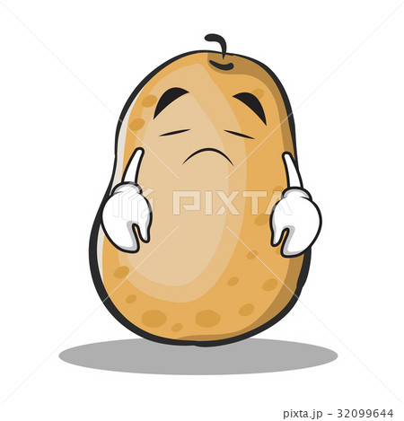 Sad potato character cartoon style 32099644 pixta sad potato character cartoon style voltagebd Choice Image