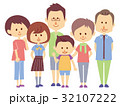 3世代 家族 ファミリーのイラスト 32107222
