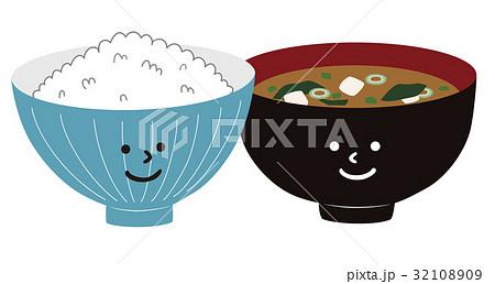 白ごはんとお味噌汁 32108909