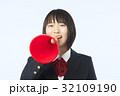 応援する女子高生 32109190