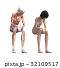 女性 解剖 筋肉 3DCG イラスト素材 32109517