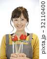 女性のポートレート バレンタイン チョコレート 苺チョコフォンデュ 32110400