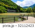 金鱗湖 湖 池の写真 32112423
