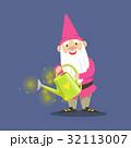 小人 ガーデン ピンクのイラスト 32113007