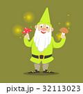 小人 きのこ キノコのイラスト 32113023