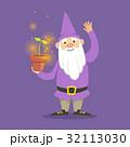 小人 紫色 帽子のイラスト 32113030