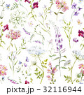 Watercolor floral summer vector pattern 32116944