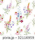 Watercolor floral summer vector pattern 32116959