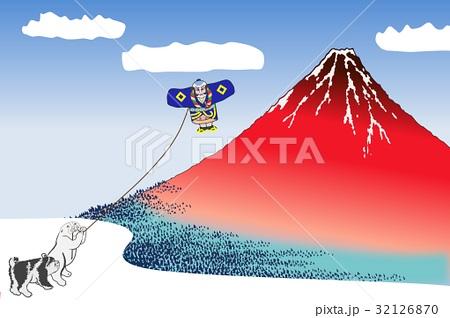 年賀状赤富士 32126870