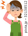 頭痛 偏頭痛 風邪のイラスト 32138512