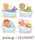 Clip art illustrations of little kids and their 32139267