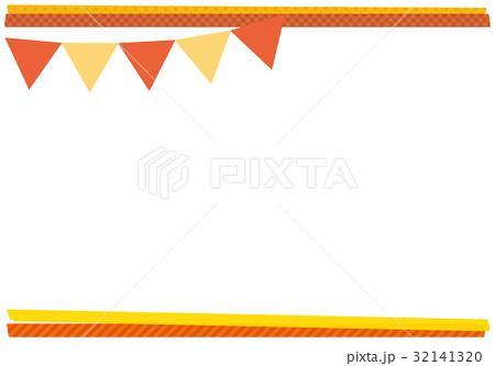 ガーランドとマスキングテープフレーム オレンジ 32141320
