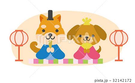 ひな祭り 犬 32142172