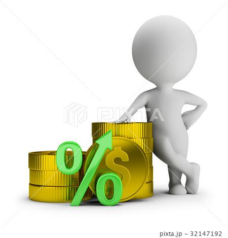 3d small people - deposit percentage 32147192