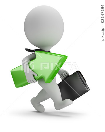 3d small people - successful businessman 32147194
