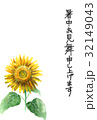 暑中見舞い ハガキ ポストカードのイラスト 32149043