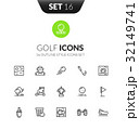 Outline black icons set in modern design style 32149741