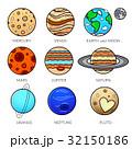 惑星 系 ソーラーのイラスト 32150186