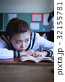 女子 学生 教室の写真 32155781