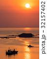 長崎 夕陽 船の写真 32157402